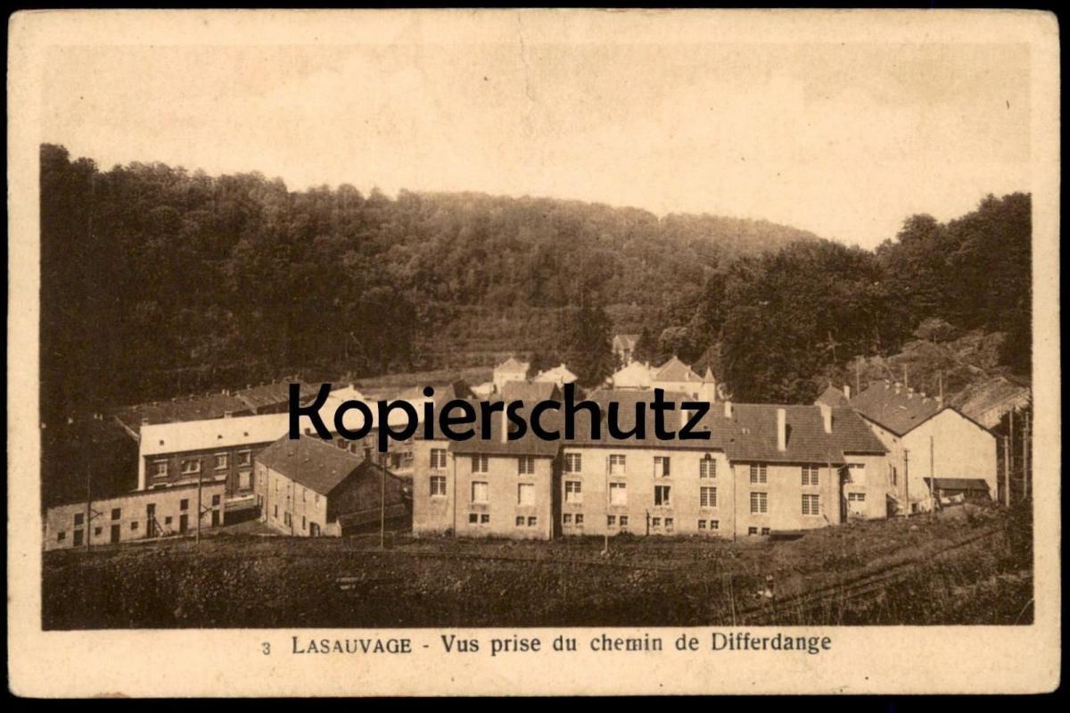 ALTE POSTKARTE LASAUVAGE VUS PRISE DU CHEMIN DE DIFFERDANGE Differdingen Luxemburg Luxembourg cpa postcard Ansichtskarte
