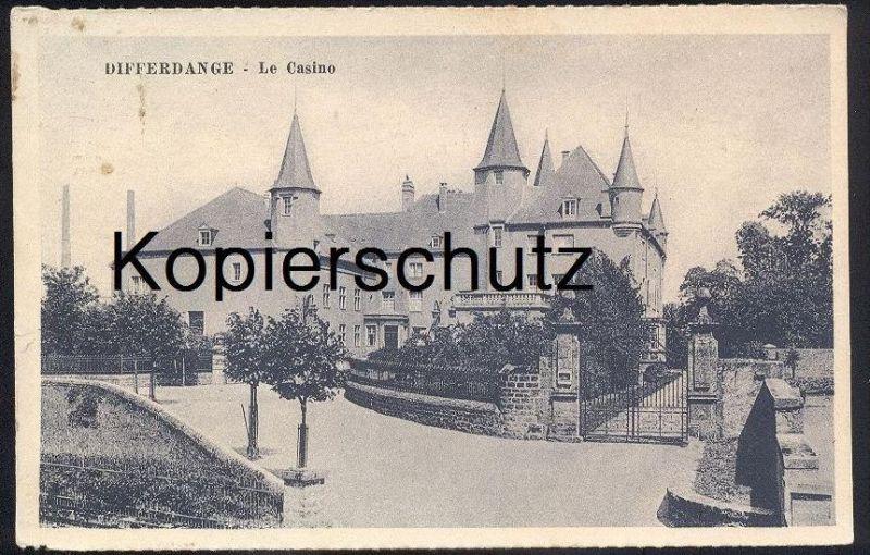 ALTE POSTKARTE DIFFERDANGE LE CASINO 1939 Differdingen Luxemburg Luxembourg cpa postcard AK Ansichtskarte