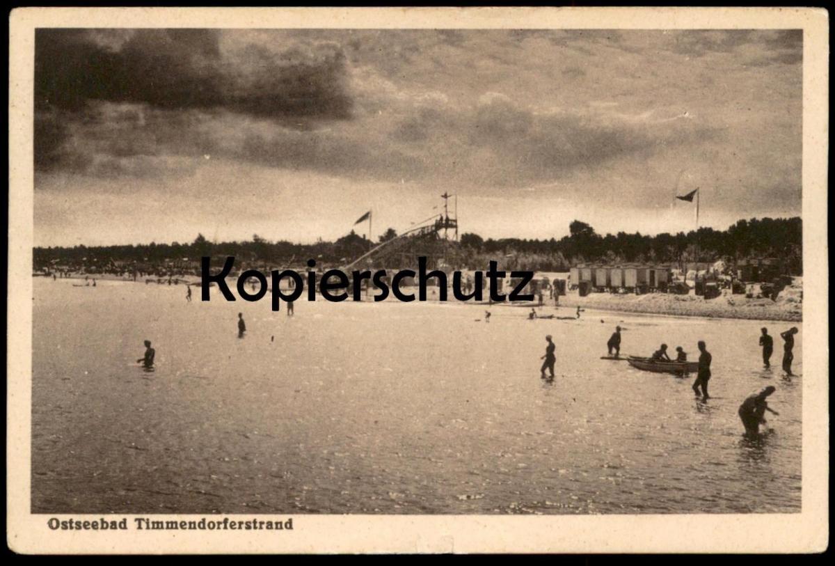 ALTE POSTKARTE OSTSEEBAD TIMMENDORFERSTRAND 1933 Timmendorfer Strand beach plage bath cpa postcard AK Ansichtskarte