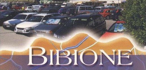 POSTKARTE BIBIONE OPEL ASTRA OMEGA ZAFIRA Auto Autos car cars map Lignano Caorle Eraclea Jesolo postcard Ansichtskarte 1
