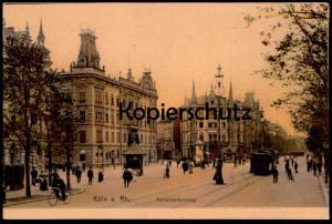 ALTE POSTKARTE KÖLN HOHENZOLLERNRING Strassenbahn Tram tramway Cöln Cologne Keulen Koeln Coeln Hohenzollern Ring cpa AK