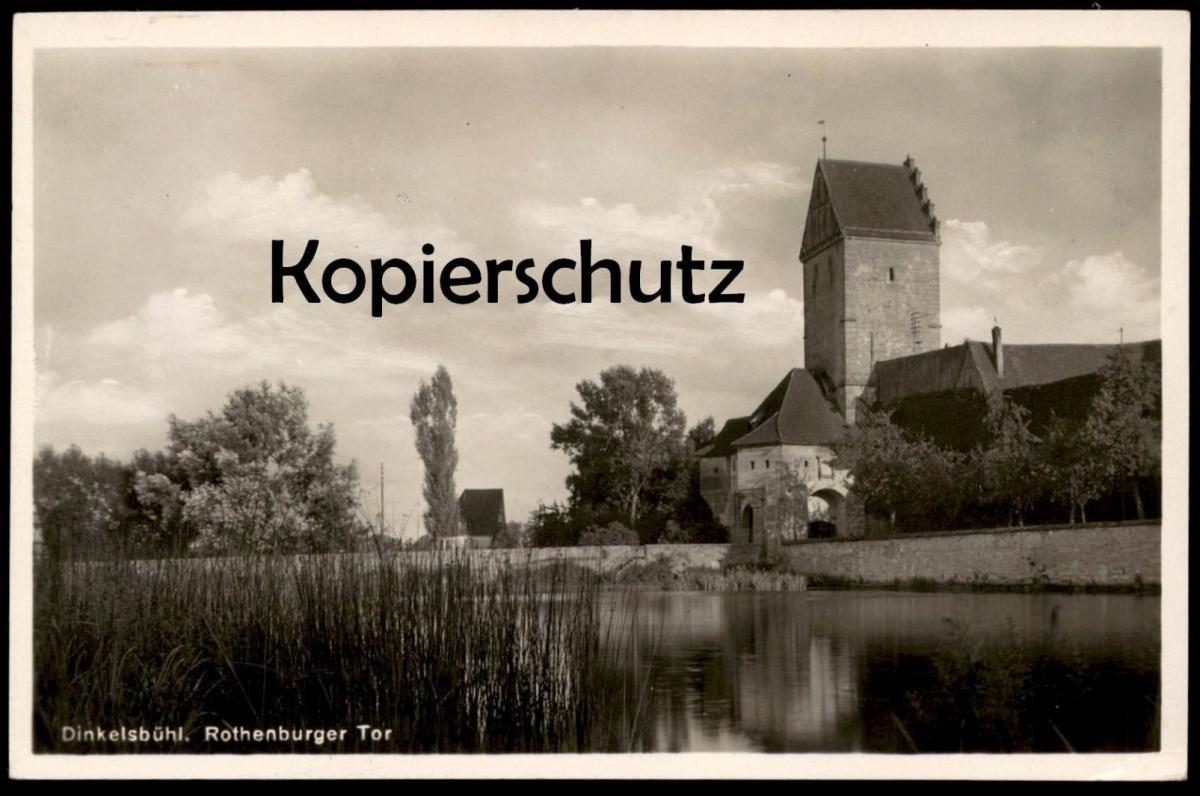 ALTE POSTKARTE DINKELSBÜHL ROTHENBURGER TOR Dinkelsbuehl gate porte cpa postcard AK Ansichtskarte