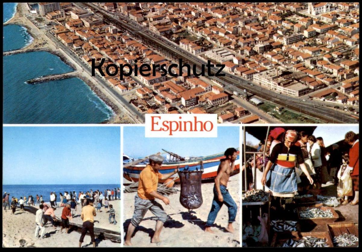 POSTKARTE ESPINHO PORTUGAL PESCA E FEIRA PORTUGUESA Peche Fischer pecheur fishing fisher fish Ansichtskarte cpa postcard