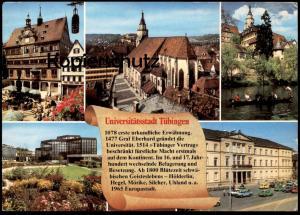 POSTKARTE TÜBINGEN GESCHICHTE CHRONIK Chronikkarte chronique chronicle storycard Tuebingen Audi Volkswagen cpa postcard