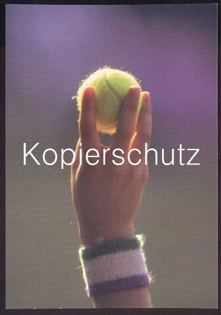 POSTKARTE WIMBLEDON 1997 TENNIS SPORT WERBUNG SPORTREISEN Tennisball Ball Balle postcard cpa Ansichtskarte AK