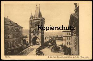 ALTE POSTKARTE PRAG BLICK VOM KREUZHERRENPLATZ AUF DIE KLEINSEITE Praha Prague Ceska Czech Republic Tschechien postcard