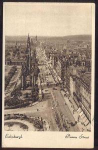 ALTE POSTKARTE EDINBURGH PRINCES STREET VIEWED FROM SCOTT MONUMENT Tram Tramway Straßenbahn cpa postcard Ansichtskarte