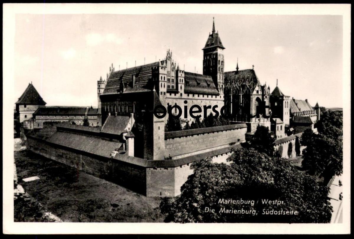 ALTE POSTKARTE MARIENBURG SÜDOSTSEITE MALBORK Westpreußen Westpreussen Polen Polska pologne poland cpa postcard AK