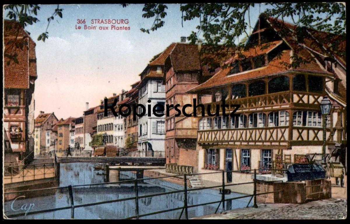 ALTE POSTKARTE STRASSBURG STRASBOURG LE BAIN AUX PLANTES FELDPOST 1941 ALSACE ELSASS cpa postcard AK Ansichtskarte