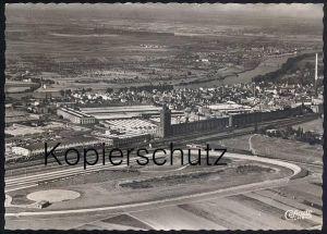 ÄLTERE POSTKARTE OPEL-WERKE RÜSSELSHEIM Teststrecke piste d´essai test track Opelwerke Ruesselsheim Auto Autos Car Cars