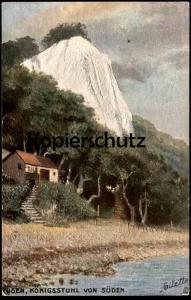 ALTE POSTKARTE OILETTE RAPHAEL TUCK POSTCARD SERIE RÜGEN No. 189 KÖNIGSSTUHL VON SÜDEN cpa Tucks postcard Ansichtskarte
