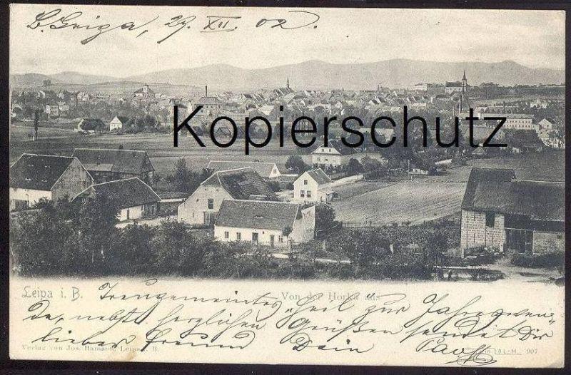 ALTE POSTKARTE LEIPA VON DER HORKA AUS Böhmisch Böhmen Ceska Lipa Sudeten Ansichtskarte AK postcard cpa Boehmen