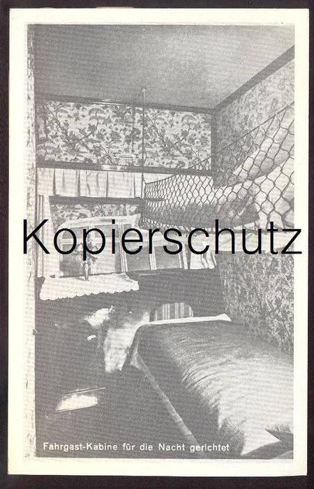 POSTKARTE ZEPPELIN FAHRGAST-KABINE FÜR DIE NACHT REPRO REPRODUKTION dirigeable Aviation dirigible airship cpa postcard