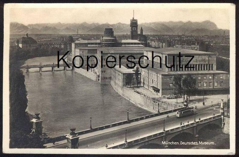 ALTE POSTKARTE MÜNCHEN DEUTSCHES MUSEUM Tram Tramway Munchen Muenchen postcard cpa AK Ansichtskarte Architecture