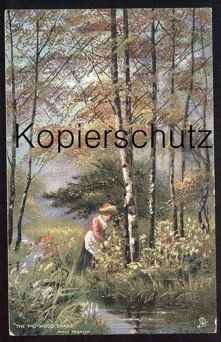 ALTE POSTKARTE OILETTE RAPHAEL TUCK The Mid-Wood Shade Tucks Regd. Postcard 6602 SIGN. JAMES THOMSON cpa Ansichtskarte