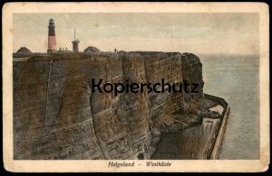 ALTE POSTKARTE HELGOLAND WESTKÜSTE LEUCHTTURM Lighthouse Phare cpa postcard Ansichtskarte AK