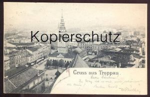 ALTE POSTKARTE GRUSS AUS TROPPAU 1898 SCHLESIEN OPAVA Austria Autriche Tschechien Ceska Republica cpa postcard AK