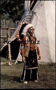 POSTKARTE SENECA INDIANS (Art Johnnyjohn) Indianer Indians Indien Indian Allegany State Park, N. Y.