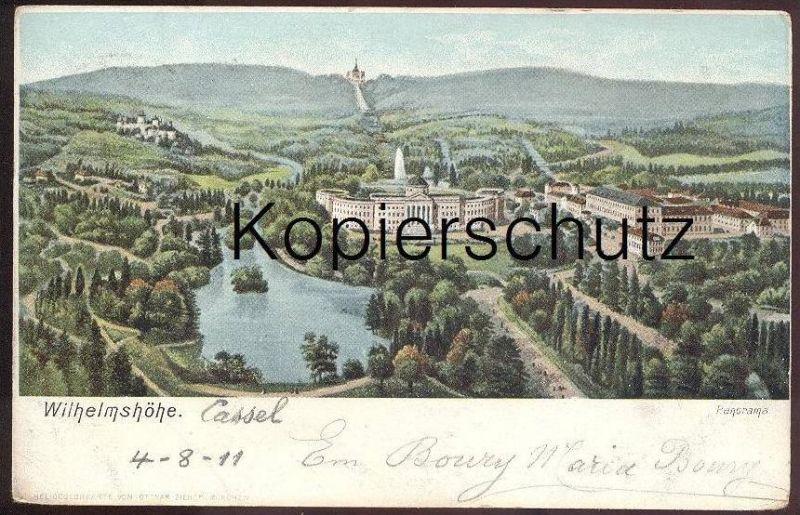 ALTE POSTKARTE CASSEL WILHELMSHÖHE PANORAMA Kassel Heliocolorkarte von Ottmar Zieher cpa postcard AK Ansichtskarte