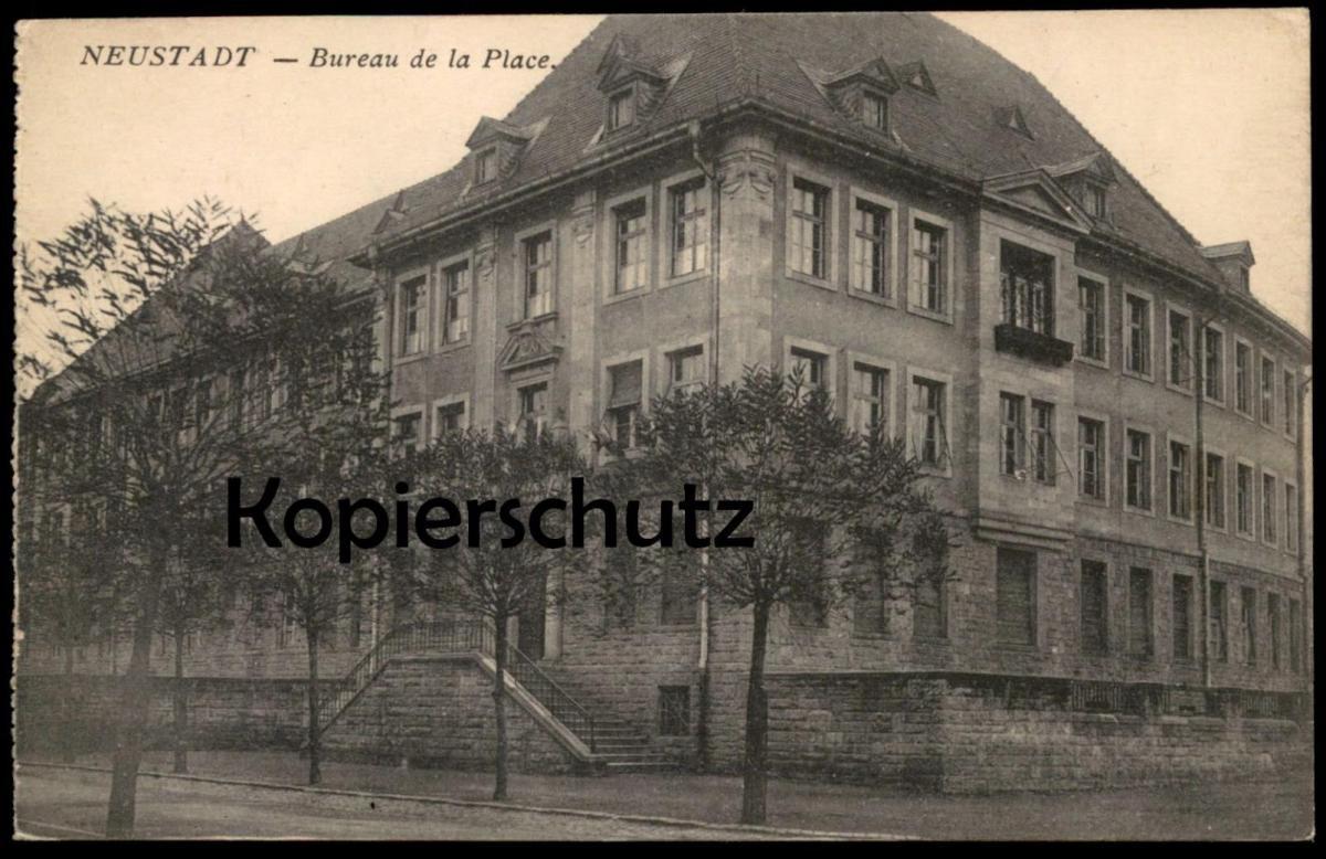 ALTE POSTKARTE NEUSTADT HAARDT BUREAU DE LA PLACE cpa postcard AK Ansichtskarte