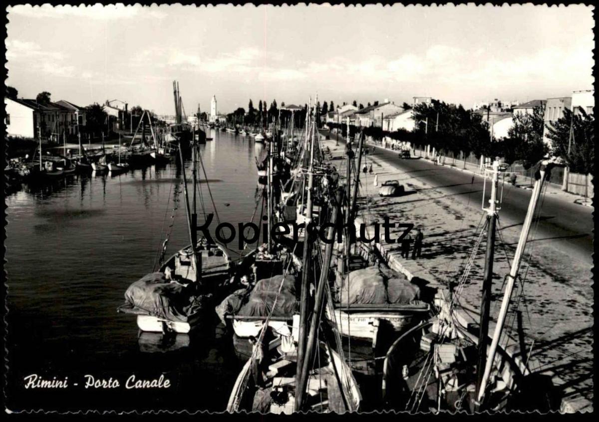 POSTKARTE RIMINI PORTO CANALE Fischerhafen Bateau de peche Barche Fischerboot Fischerboote fishing boat boats Italia VW