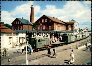ÄLTERE POSTKARTE BAHNHOF BORKUM Zug Station Gare Train touristique Railway Eisenbahn Lokomotive locomotive postcard cpa