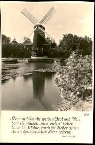 ÄLTERE POSTKARTE MÜHLE Spruch von Adolf Heller Windmühle Mill Moulin Windmill Molen cpa postcard AK Ansichtskarte