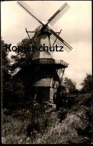 ÄLTERE FOTO-POSTKARTE HÜVEN WINDMÜHLE & WASSERMÜHLE Mühle Mill Moulin Windmill Molen Hueven Sögel Soegel cpa postcard AK