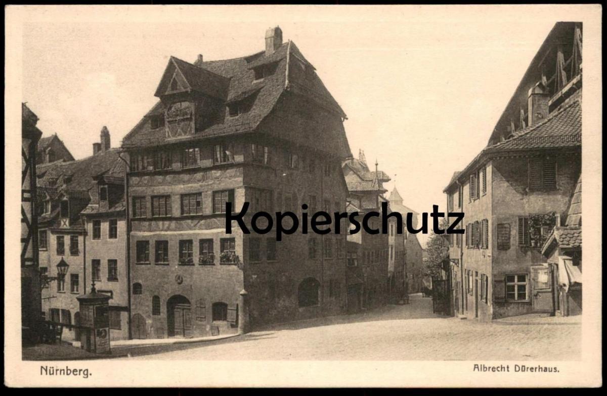 ALTE POSTKARTE NÜRNBERG ALBRECHT DÜRER HAUS Dürerhaus Duererhaus Nuernberg poet poète cpa postcard AK Ansichtskarte