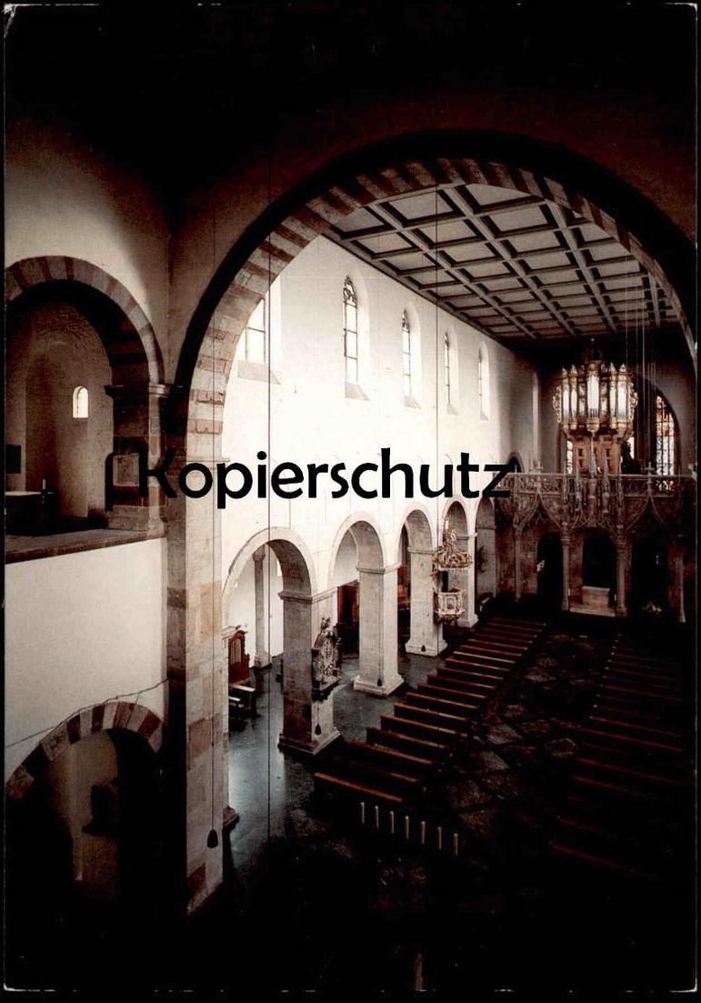 POSTKARTE KÖLN ST. PANTALEON Weihe 980 Westwerk mit Mittelschiff ORGEL interieur l´eglise orgue organ cpa postcard AK