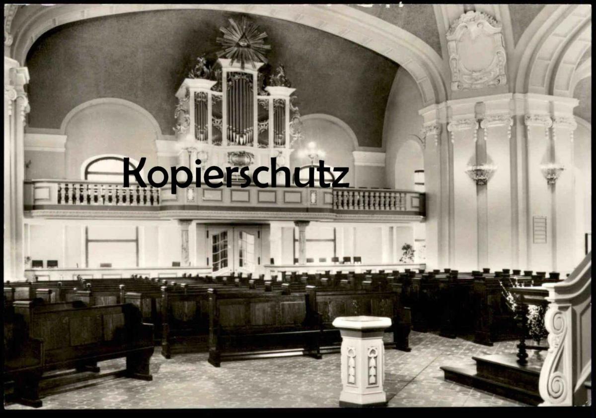 POSTKARTE FRANZÖSISCHE FRIEDRICHSTADTKIRCHE ORGEL 1985 ERBAUT VOM VEB EULE ORGELBAU interieur l´eglise orgue organ cpa