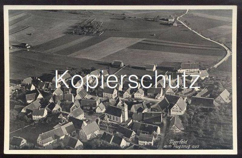 ALTE POSTKARTE TIGERFELD LUFTBILD VOM FLUGZEUG bei Pfronstetten Reutlingen Schwäbische Alb cpa postcard AK Ansichtskarte