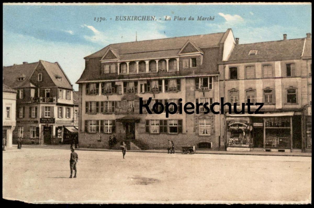 ALTE POSTKARTE EUSKIRCHEN La Place du Marché market place Markt erkennbar Peter Reitz & Albert Roter cpa postcard