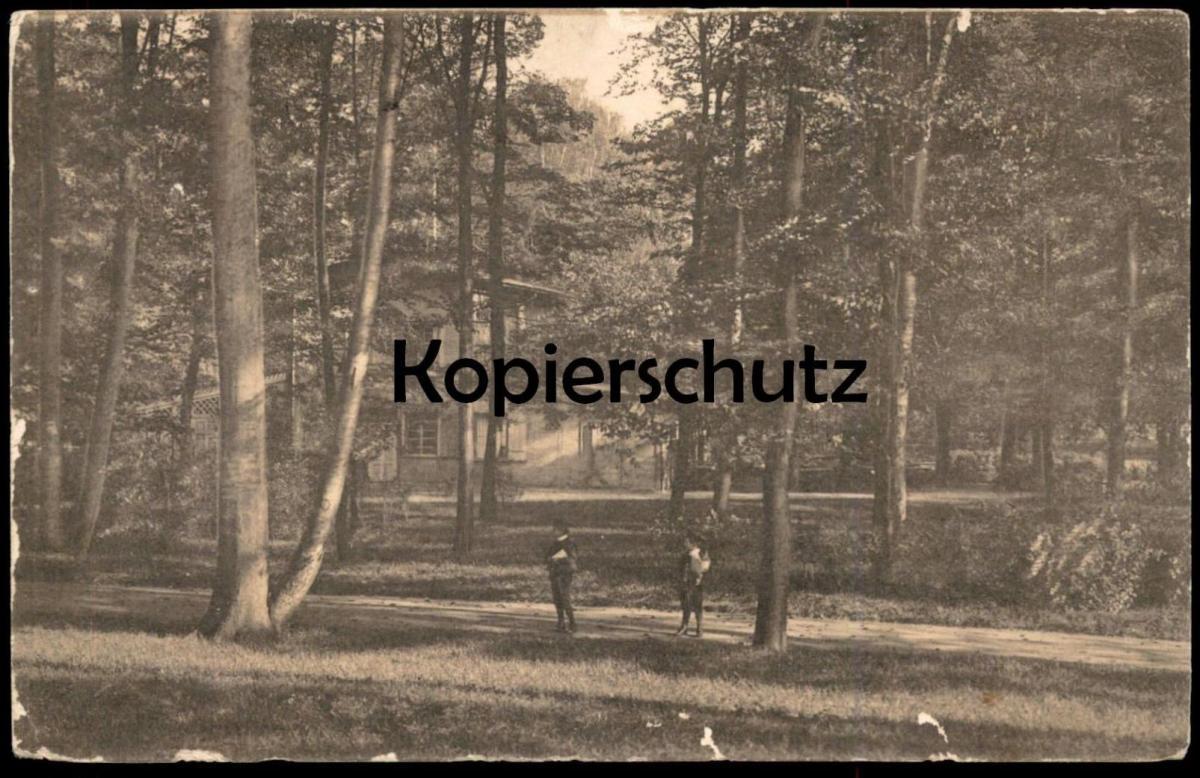 ALTE POSTKARTE AUS STETTIN UND UMGEBUNG MOTIV AUS DEN ANLAGEN Szczecin Pommern cpa postcard AK Ansichtskarte