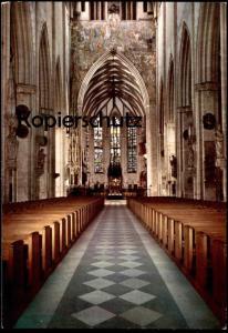 POSTKARTE ULM AN DER DONAU MÜNSTER Mittelschiff mit Blick zum Chor Main Nave and view of the choir church cpa postcard