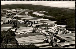 ÄLTERE POSTKARTE SCHWENNINGDORF AM WIEHENGEBIRGE LUFTBILD Rödinghausen Kreis Herford AK Ansichtskarte cpa postcard