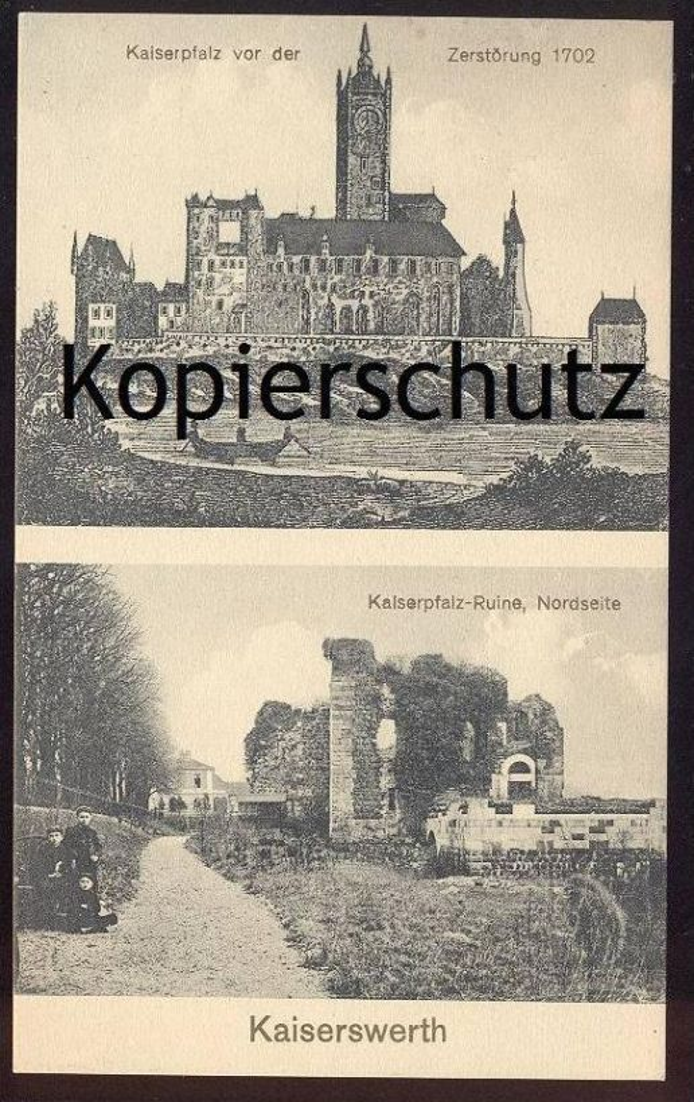 ALTE POSTKARTE KAISERSWERTH KAISERPFALZ VOR ZERSTÖRUNG 1702 RUINE NORDSEITE Düsseldorf cpa postcard Ansichtskarte AK