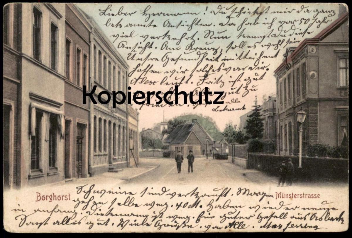 ALTE POSTKARTE BORGHORST MÜNSTERSTRASSE 1904 Burgsteinfurt Steinfurt cpa postcard AK Ansichtskarte