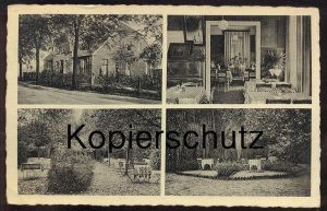 ALTE POSTKARTE MÜNSTER HILTRUP CAFÉ & RESTAURANT LIPPMANN STEMPEL FELDPOST 1942 Westfalen cpa postcard AK Ansichtskarte