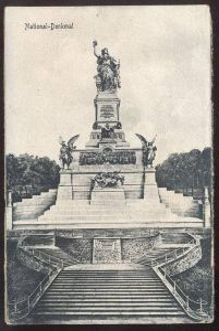 ALTE POSTKARTE NATIONAL-DENKMAL BEI RÜDESHEIM Niederwald-Denkmal Niederwalddenkmal monument cpa postcard AK