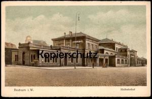 ALTE POSTKARTE BOCHUM SÜDBAHNHOF Bahnhof station gare cpa postcard AK Ansichtskarte