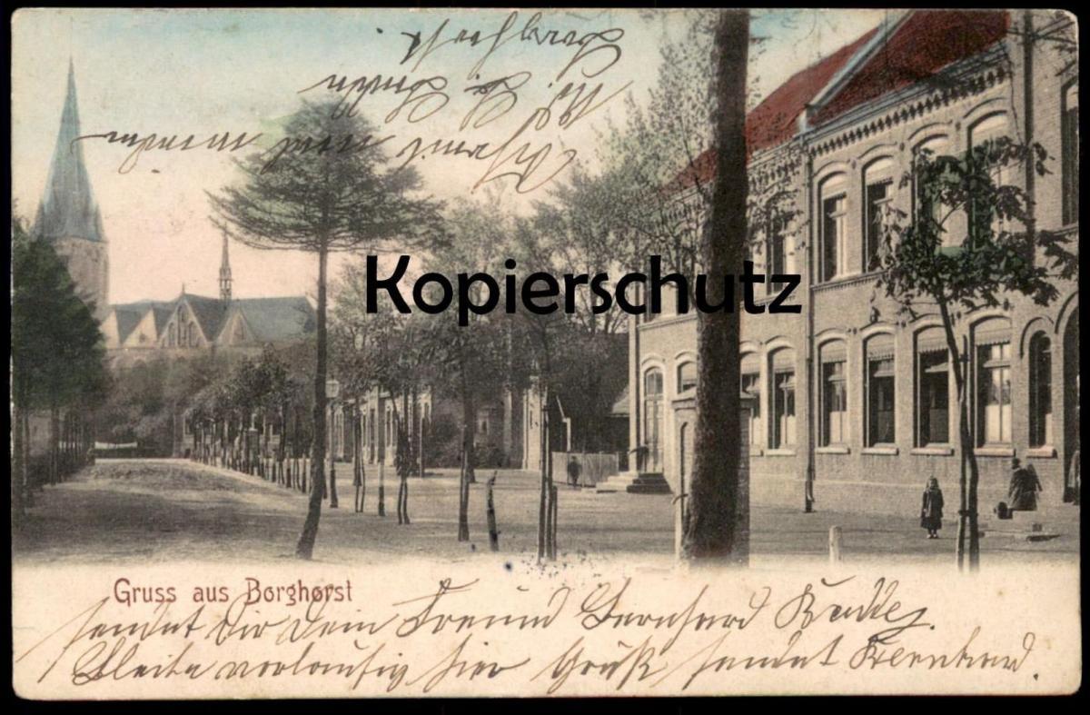 ALTE POSTKARTE GRUSS AUS BORGHORST 1905 Burgsteinfurt Steinfurt cpa postcard AK Ansichtskarte