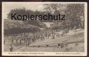 ALTE POSTKARTE GRUSS AUS DEM SCHÖNEN STRANDBAD GIMBTE GREVEN VON ARBEITSMANN W. RAD Reichsarbeitsdienst Abteilung 2/162