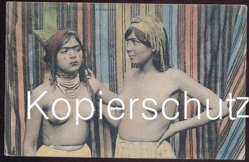 ALTE POSTKARTE ALGÉRIE TYPES DE MAURESQUES nus nude women femmes nue nu cpa postcard algeria AK Ansichtskarte