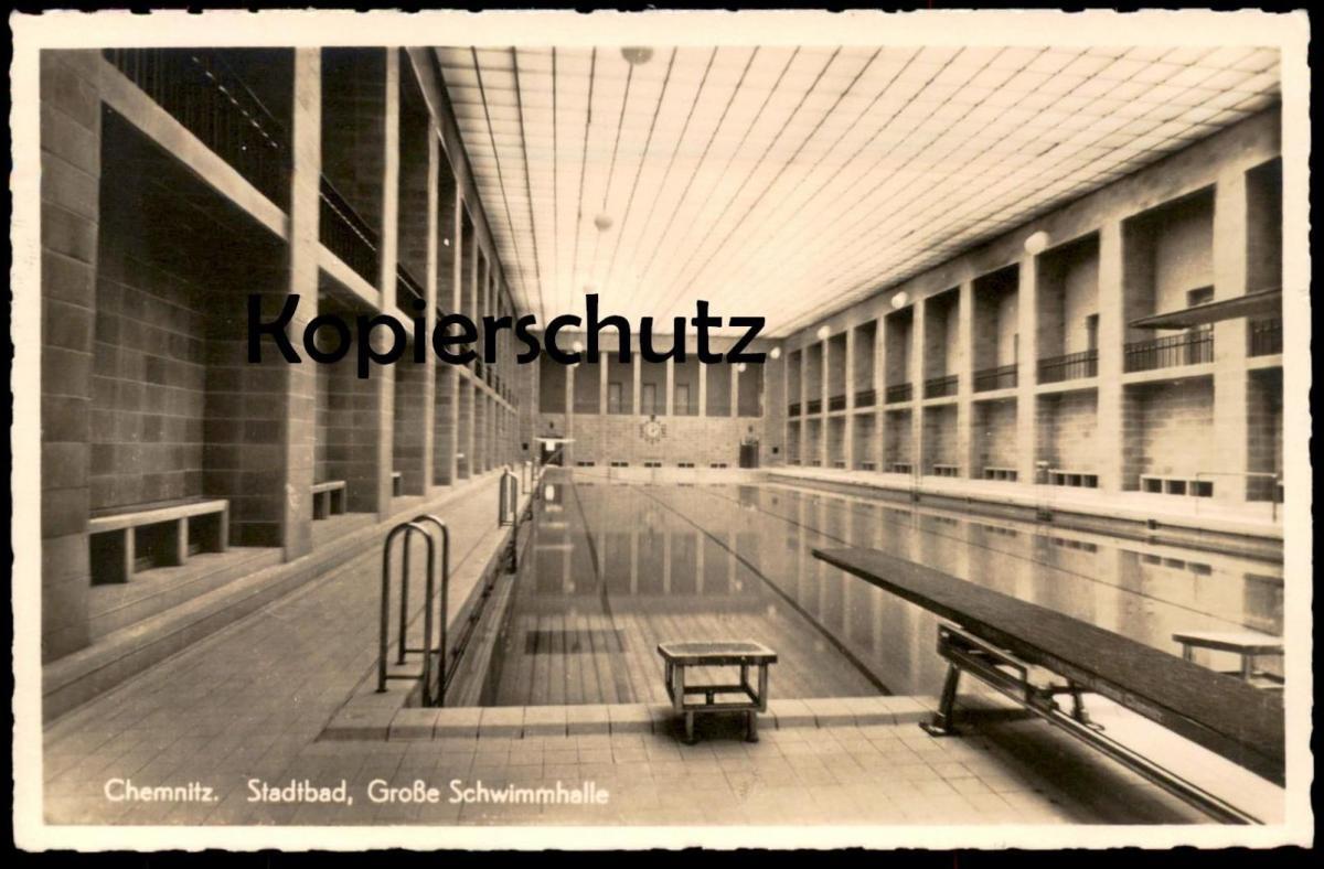 Alte postkarte chemnitz stadtbad bauhaus stil architekt fred otto architecture architect - Architekt chemnitz ...