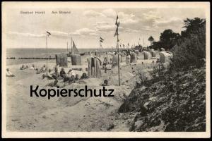 ALTE POSTKARTE SEEBAD HORST AM STRAND Pommern Niechorze Polen poland  polska AK Ansichtskarte postcard cpa