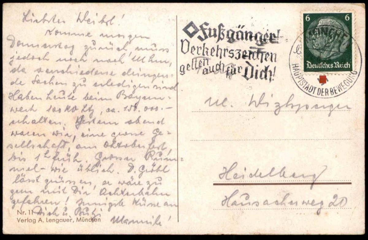 Alte Künstler Postkarte München Gruss Vom Oktoberfest 1940 Flagge