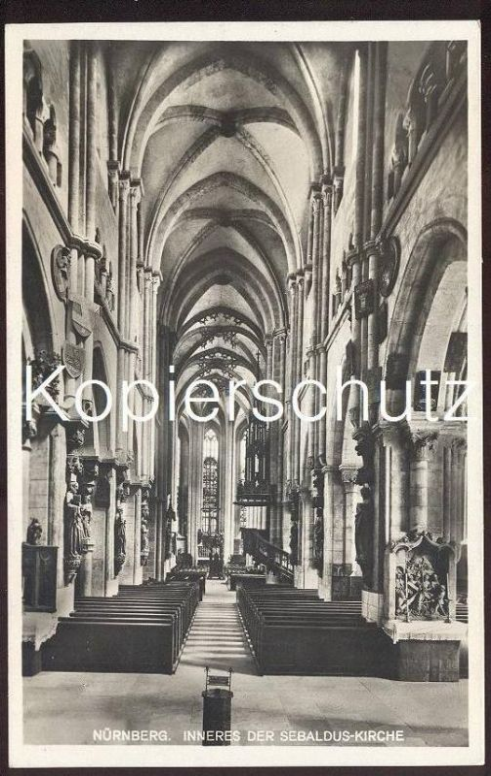 ALTE POSTKARTE NÜRNBERG SEBALDUSKIRCHE Inneres interior view vue de l'intérieure Ansichtskarte postcard cpa AK Kirche
