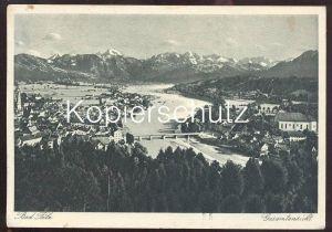ALTE POSTKARTE BAD TÖLZ GESAMTANSICHT 1936 Totalansicht Total AK Ansichtskarte postcard cpa Bayern