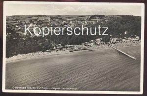 ALTE POSTKARTE OSTSEEBAD GÖHREN auf Rügen Original-Fliegeraufnahme Luftbild Totalansicht Ansichtskarte AK postcard cpa